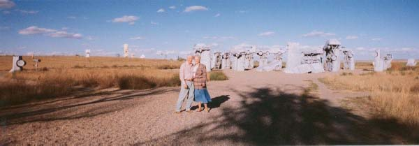 Mom and Dad at Car Henge